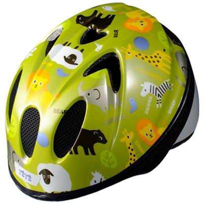 スプラッシュハート XS アニマルグラス グリーン [自転車用ヘルメット XSサイズ(48~52cm) 使用年齢目安:1~3歳頃]