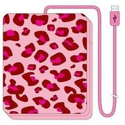 iDP5-AB4 [iDress Girls i 乾電池式充電器forスマートフォン 単3×4本タイプ USB出力:1ポート 最大:0.7A ピンクレオパード]