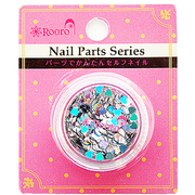 ROT-32-6 [Nail Parts Series ホログラム ハート オーロラシルバー]
