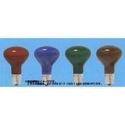 KRR45E17100110V22WRT [白熱電球 クリプトンランプ E17口金 00~110V 22W 45mm径 耐熱透明カラー レッド]