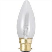 C37B22D100110V40WF [白熱電球 シャンデリアランプ B22D口金 100~110V 40W 37mm径 フロスト]