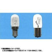 T20E14110V5WC [白熱電球 ナツメ球 E14口金 110V 5W形 20mm径 海外ベース クリア]