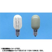 T20E12110V10W [白熱電球 ナツメ球 E12口金 110V 10W形 20mm径 ホワイト]