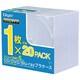 CD-084-20 [CD/DVD/Blu-ray用プラケース スリム 20枚]