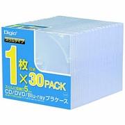 CD-084-30 [CD/DVD/Blu-ray用プラケース スリム 30枚]