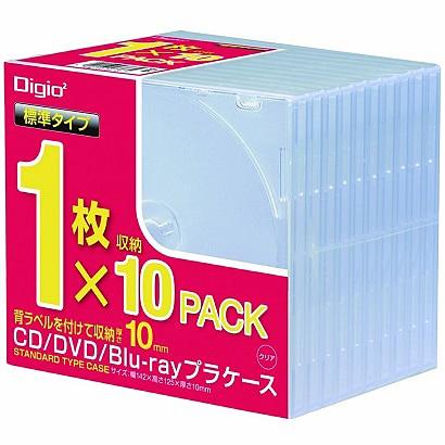 CD-085-10 [CD/DVD/Blu-ray用プラケース スタンダード 10枚]