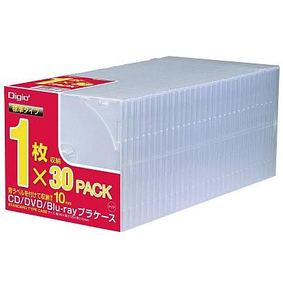 CD-085-30 [CD/DVD/Blu-ray用プラケース スタンダード 30枚]