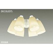 DP-37975 [LEDシーリングファン用灯具 ~10畳 11W×6灯 E26 非調光 電球色]