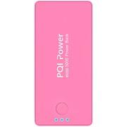 6PPA-06BR0004A [PQI-Power5000C リチウムポリマー搭載モバイルバッテリー 5000mAh USB出力:1ポート 最大:2.1A ピンク]