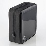 CCD-H320BK [CD/DVDケース セミハード ファスナー付 320枚入 ブラック]