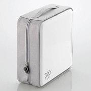 CCD-H320WH [CD/DVDケース セミハード ファスナー付 320枚入 ホワイト]