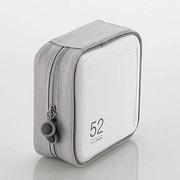 CCD-H52WH [CD/DVDケース セミハード ファスナー付 52枚入 ホワイト]