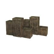三連枕木フェンス63型 ダークブラウン
