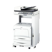 LP-M53FZC5 [A3対応 カラーページプリンター プリント/スキャン/コピー/ファクス機能搭載 有線ネットワーク/両面印刷/ADF対応 専用ラック・増設カセットセットモデル]