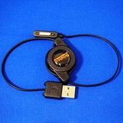 BM-XPRMGREEL/BK [Xperia Z1/Z1f用 マグネット充電端子ケーブル リール式 USBオス ブラック]