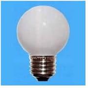 G50E26220V40WW [白熱電球 ボールランプ E26口金 220V 40W形 50mm径 ホワイト 220V用]