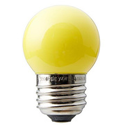 SIGN7WYL [白熱電球 サイン球 E26口金 7W イエロー]