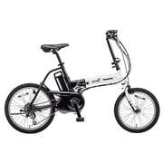 BE-ENW076F [折りたたみ電動アシスト自転車 オフタイム 前18/後20型 外装7段変速 パールホワイト×ブラック]