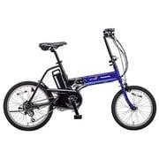 BE-ENW076V [折りたたみ電動アシスト自転車 オフタイム 前18/後20型 外装7段変速 フェニックスブルー×ブラック]