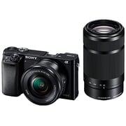 ILCE-6000Y B [α6000 (アルファ6000) ダブルズームレンズキット ボディ+交換レンズ「E PZ 16-50mm F3.5-5.6 OSS」「E 55-210mm F4.5-6.3 OSS」 ブラック]