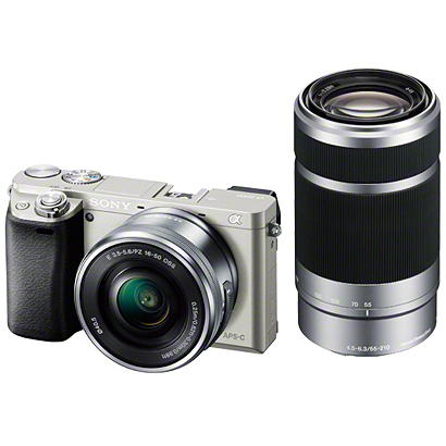 ILCE-6000Y S [α6000 (アルファ6000) ダブルズームレンズキット ボディ+交換レンズ「E PZ 16-50mm F3.5-5.6 OSS」「E 55-210mm F4.5-6.3 OSS」 シルバー]