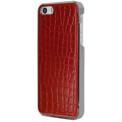 ICC RE-L [IC-COVER Leather ICカード対応 iPhone 5S/5専用ケース レザー調レッド]