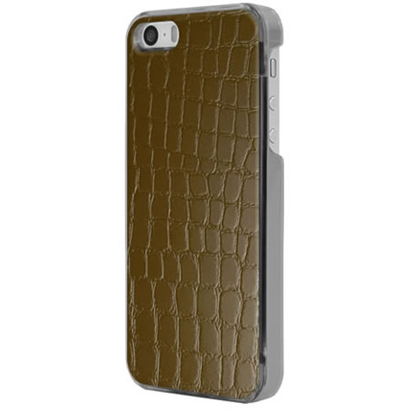 ICC DB-L [IC-COVER Leather ICカード対応 iPhone 5S/5専用ケース レザー調ダークブラウン]