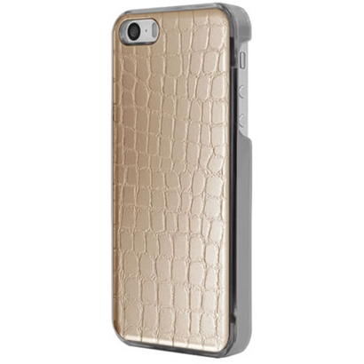 ICC GO-L [IC-COVER Leather ICカード対応 iPhone 5S/5専用ケース レザー調ゴールド]