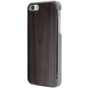 ICC EN [IC-COVER Leather ICカード対応 iPhone 5S/5専用ケース 木目調エボニー]