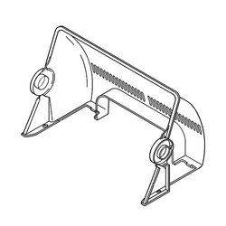 FDF1360085 [食器乾燥器用 フタ 後]
