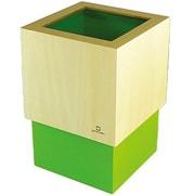 YK06-012Lgr [W CUBE ダストボックス 黄緑色]