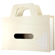 YK11-103-Wh [BAG tissue ティッシュケース&小物ケース W ホワイト]