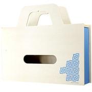 YK11-103-Lbl [BAG tissue ティッシュケース&小物ケース W ライトブルー]