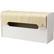 YK12-103-Wh [WRAP BOX ラップ型ティッシュケース ホワイト]