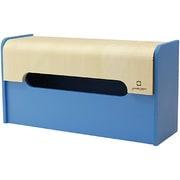 YK12-103-Lbl [WRAP BOX ラップ型ティッシュケース ライトブルー]