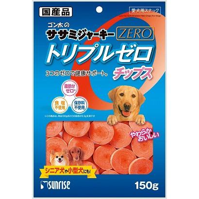ゴン太のササミジャーキー ZERO トリプルゼロ チップス [犬用 150g]