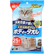 JOY PET  天然消臭成分ボディータオル猫用25枚