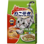 ねこ元気 お魚と野菜入りミックス [猫用 キャットフード 2kg]