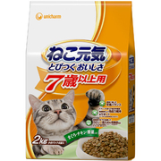 ねこ元気   [7歳以上用 猫用 キャットフード まぐろ・チキン・野菜入り 2kg]