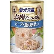 愛犬元気 缶 ビーフ魚野菜入り 375g