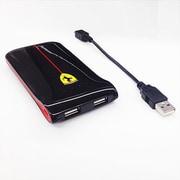 FEGLEB50 BL [2USBポート(USB出力:2ポート 最大合計:2A) リチウムバッテリー 5000mAh]