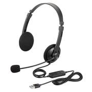 BSHSUH12BK [両耳ヘッドバンド式ヘッドセット USB接続]