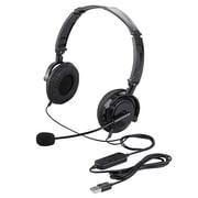 BSHSUH13BK [両耳ヘッドバンド式ヘッドセット USB接続/折りたたみタイプ]