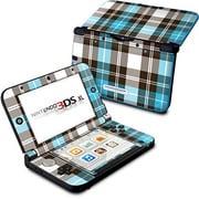 Nintendo 3DS LL Skin Turquoise Plaid [3DS LL用 ドレスアップシール]