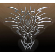 Play Station 4 Skin Tribal Dragon Chrome [プレイステーション4用]