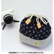 CKBM-FLNA [カメラ巾着袋M フラッグ/ネイビー カメラ用インナーケース]