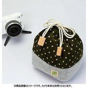 CKBM-PDFM [カメラ巾着袋M ポルカドット/フカミドリ カメラ用インナーケース]