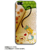 ip5-0407-uvbase-cl Antique Alice Book [iPhone SE/5s/5用 ハードケース デザインケース]