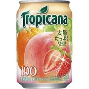 トロピカーナ 100%フルーツブレンド 缶 280g×24本 [果汁飲料]