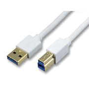 HUC-3-AB-1M [USBケーブル3.0 A-B 1m ホワイト]